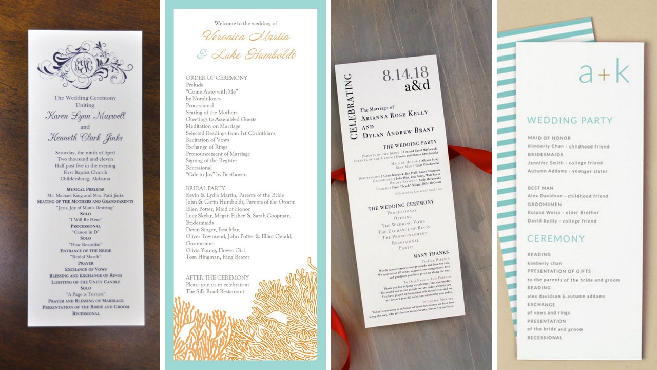 35 simple wedding reception program sample ideas style female