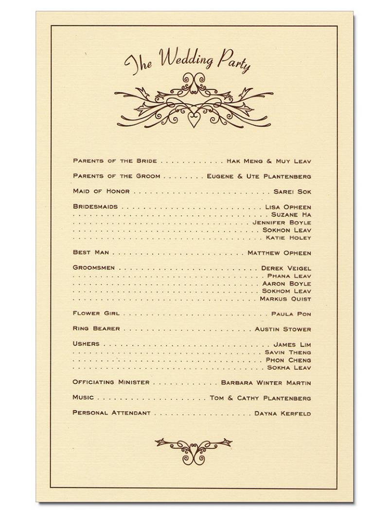 Simple Wedding Reception Program Sample Ideas 40 – Style Female